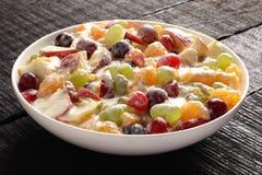 Delicious Refreshing creamy fruit salad Stock Image