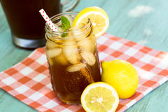 Delicious Refreshing Summer Drink Iced Tea Stock Photography