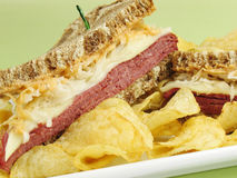 Delicious Reuben Stock Photography