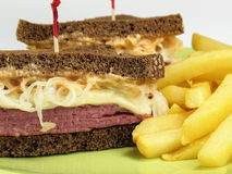 Delicious Reuben Sandwich Stock Image