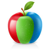Delicious RGB apple Stock Photography