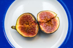 Delicious ripe figs ready for eating Royalty Free Stock Photography