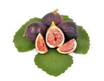 Delicious ripe green fig leaf Stock Photo