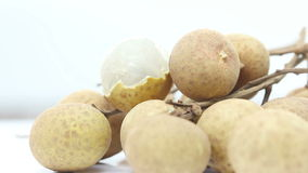 Delicious ripe longan, loopable Royalty Free Stock Photography