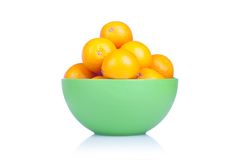 Delicious ripe orange isolated on white background with reflecti Stock Photography