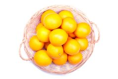 Delicious ripe orange isolated on white background with shadow Royalty Free Stock Photos