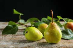 Delicious ripe pears Stock Photos