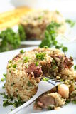 Delicious Risotto With Liver Stock Image