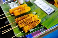 Delicious roast corn for sale Royalty Free Stock Photo