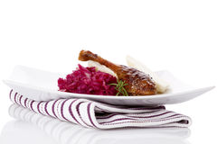 Delicious roast duck. Royalty Free Stock Photo