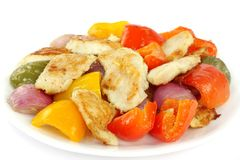 Delicious roasted fish, capsicum and onion Stock Photo