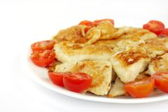 Delicious roasted fish and tomato Royalty Free Stock Photo