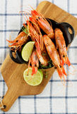 Delicious Roasted Shrimps Stock Images