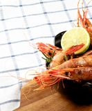 Delicious Roasted Shrimps royalty free stock photo