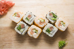 Delicious rolls Stock Photography
