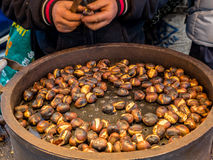 Delicious rosted chestnuts - 2 Royalty Free Stock Images