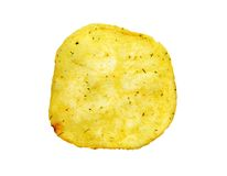 Delicious round potato chips Royalty Free Stock Photos