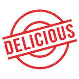 Delicious rubber stamp Royalty Free Stock Images