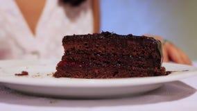 Delicious Sacher Torte stock video footage