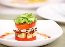 Delicious salad or appetizer Stock Images