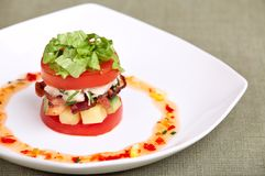 Delicious salad or appetizer Royalty Free Stock Photos
