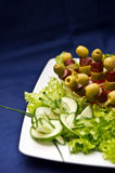 Delicious salad and appetizers Royalty Free Stock Images