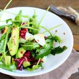Delicious salad with avocado Stock Photo