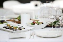 Delicious salad at a banquet Stock Image
