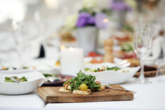 Delicious salad at a banquet Royalty Free Stock Images