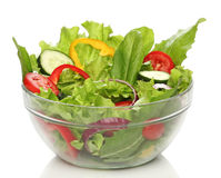 Delicious salad on a bowl isolated Stock Photos