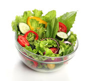 Delicious salad on a bowl isolated Stock Image