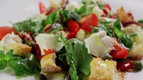 Delicious salad. stock video footage