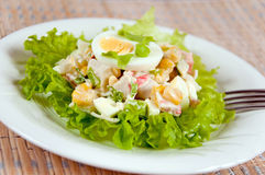 A delicious salad with egg Royalty Free Stock Images