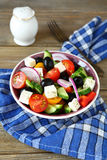 Delicious salad with fresh vegetables and feta Royalty Free Stock Images