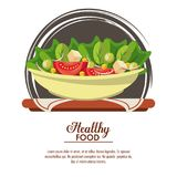 Delicious salad healthy food. Banner with information vector illustration graphic design Royalty Free Stock Images