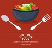 Delicious salad healthy food. Banner with information vector illustration graphic design Royalty Free Stock Image