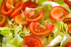 Delicious salad with lettuce Stock Photo
