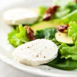 Delicious salad with mozzarella and avocado Stock Photo