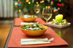 Delicious salad served for two Royalty Free Stock Photo