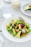 Delicious salad with shrimp and avocado Stock Images