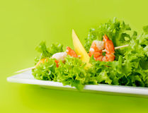 Delicious salad of shrimps Royalty Free Stock Image