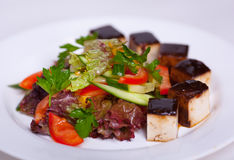 Delicious salad with tofu Stock Photography
