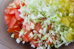Delicious Salad With A Close-up Royalty Free Stock Photos