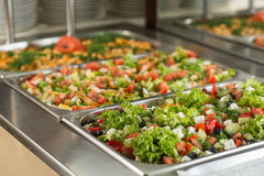 Delicious salads Stock Image