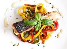 Delicious salmon filet Stock Photos