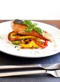 Delicious salmon filet Stock Image