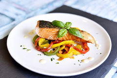 Delicious salmon filet Stock Images