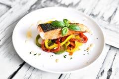 Delicious salmon filet Stock Photography