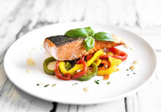 Delicious salmon filet Royalty Free Stock Images