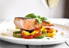 Delicious salmon filet Royalty Free Stock Photos